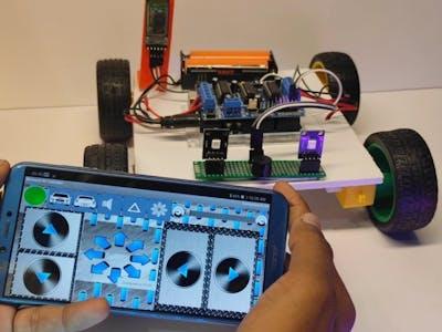 DIY ! Smartphone Controller Car ! Light & Horn