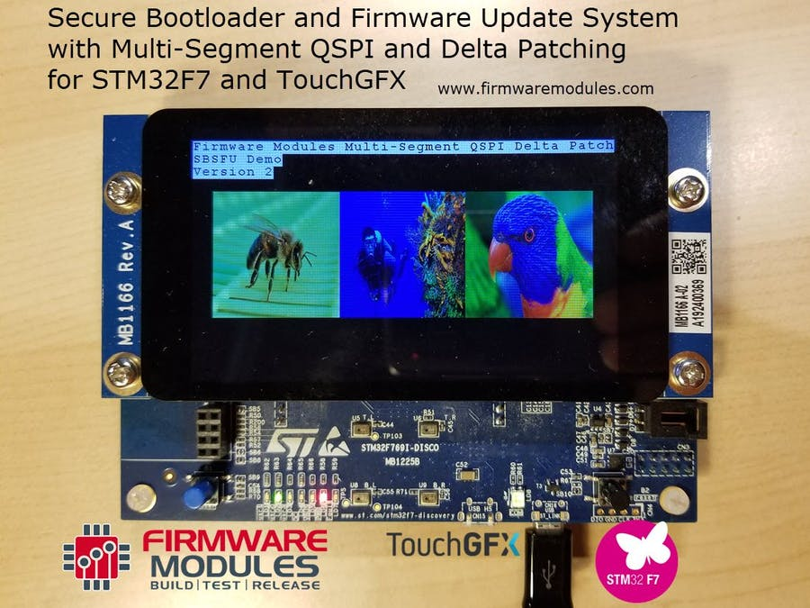 Firmware Update System for STM32F7 TouchGFX