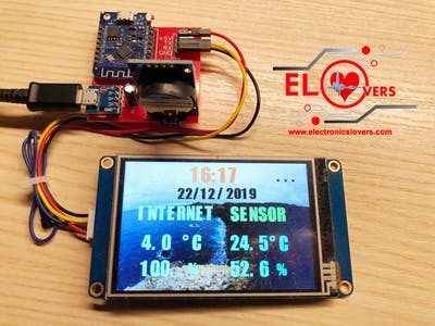 DIY Wireless based Weather Station Project by using Nextion