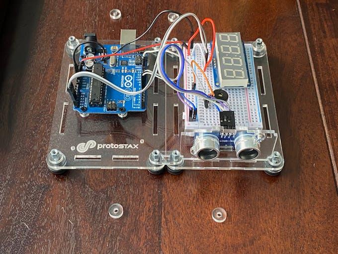Using ProtoStax Kit for Ultrasonic Sensor HC-SR04 to mount the Ultrasonic Sensor