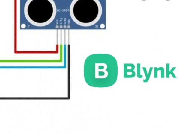 Ultrasonik sensor with blynk