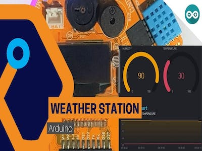 WIFI weather station with Magicbit (ESP32)