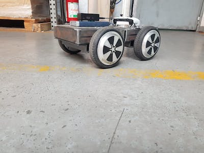 Drone transporting rover