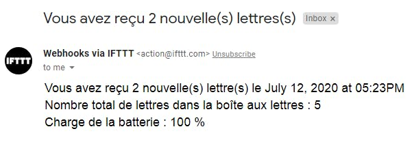 Gmail notification (in french)