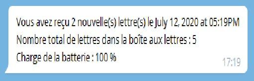 Telegram notification (in french)