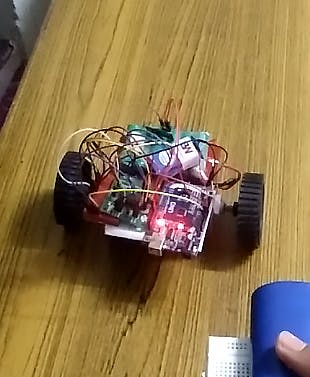 Receiver circuit on the robot