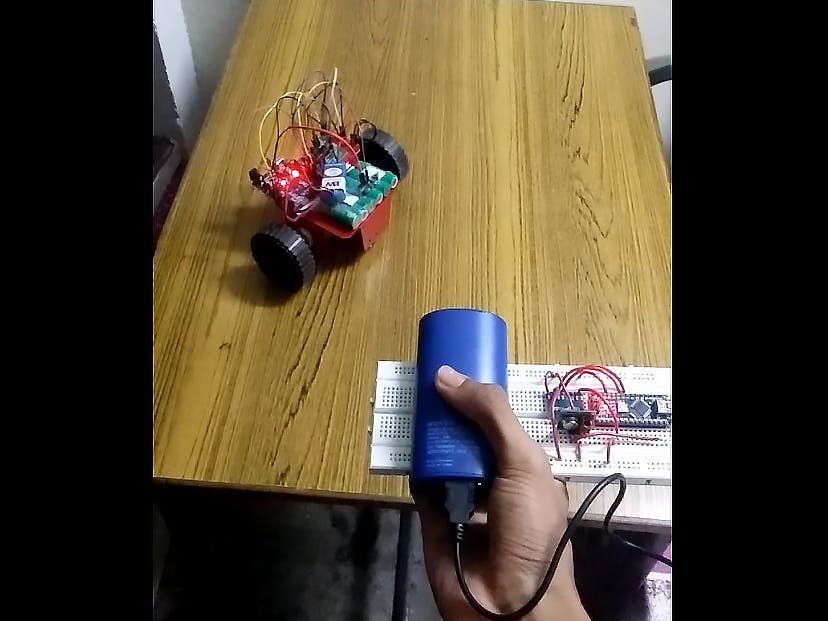 Gesture controlled robot