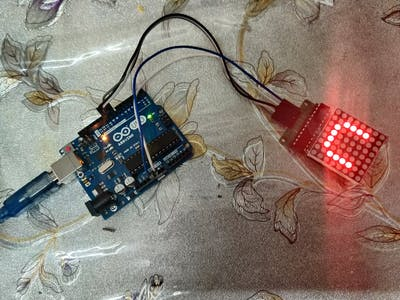 MAX7219 8 By 8 Dot Matrix withe arduino Project