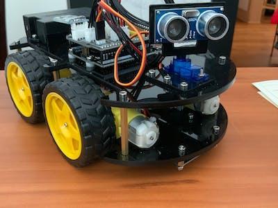 Ultrasonic sensor arduino project robot