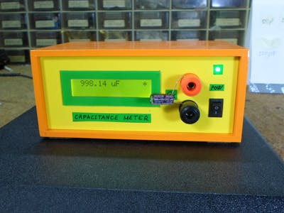 DIY Simple Autorange Capacitance Meter (10pF-10000microF)