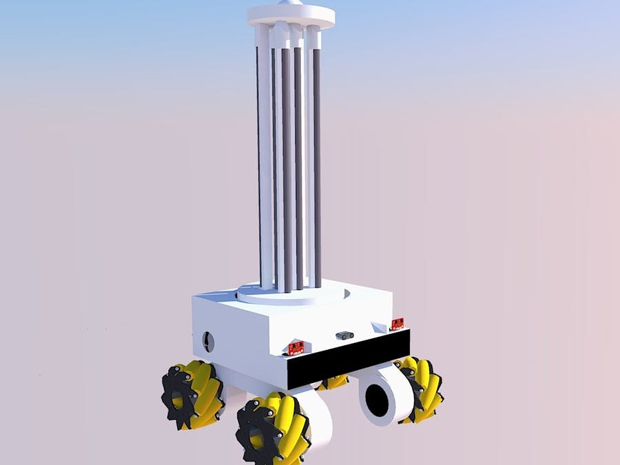 Pinaka - A UVD(UV Disinfect) Robot