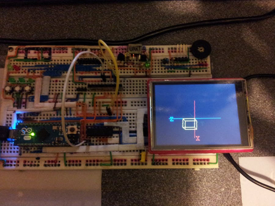 Arduino 3D Axonometric Projection