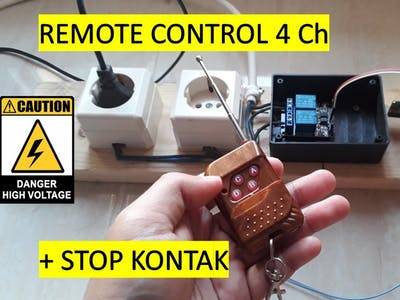 How to Connect Remote Control 4 Channel to Arduino