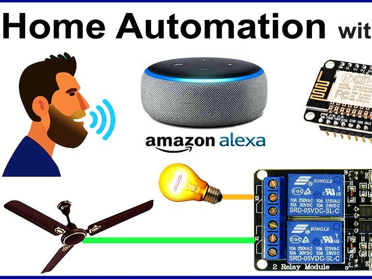 Alexa Home Automation System Using NodeMCU & Relay Module
