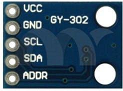 Figure 1 - BH1750 Sensor Pins.