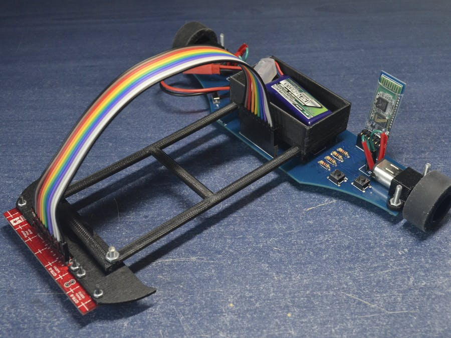 Line Follower Robot With Pid Controller Hackster Io