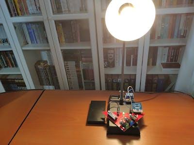 RFID Desk Lamp with RGB Color Scheme Lock