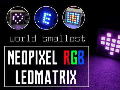 Rgb led matrix using neopixel