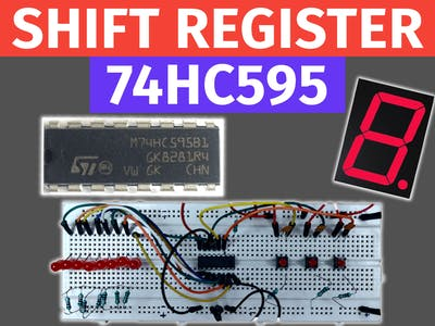 Controlling 7 Segment Display Using Arduino and 74HC595