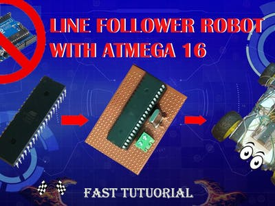 IR Line Follower Robot Using ATMEGA16 Without using Arduino