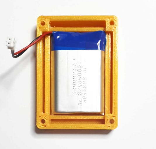 The battery assembled on the bottom case