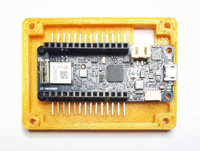 Arduino MKR 1010 assembled on middle case
