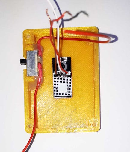The UV Detection Sensor and the switch assembled on the top case
