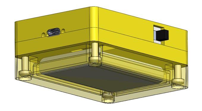 3D model - Bottom view