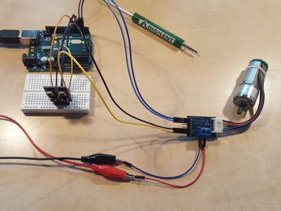 Using the Pmod HB5 and Pmod BTN with Arduino Uno