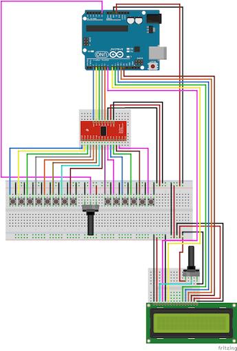Step Three - LCD - Part 2 - Basic LCD - Schema