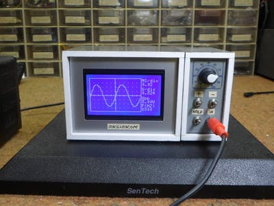 DIY 10Hz-50kHz Oscilloscope on 128x64 LCD Display