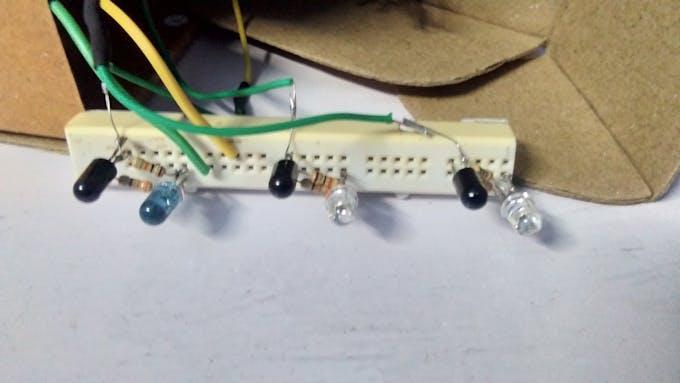IR sensor in bread board