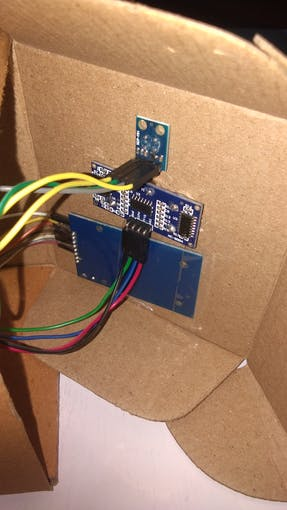 RFID reader,Temperature sensor,ultrasonic sensor