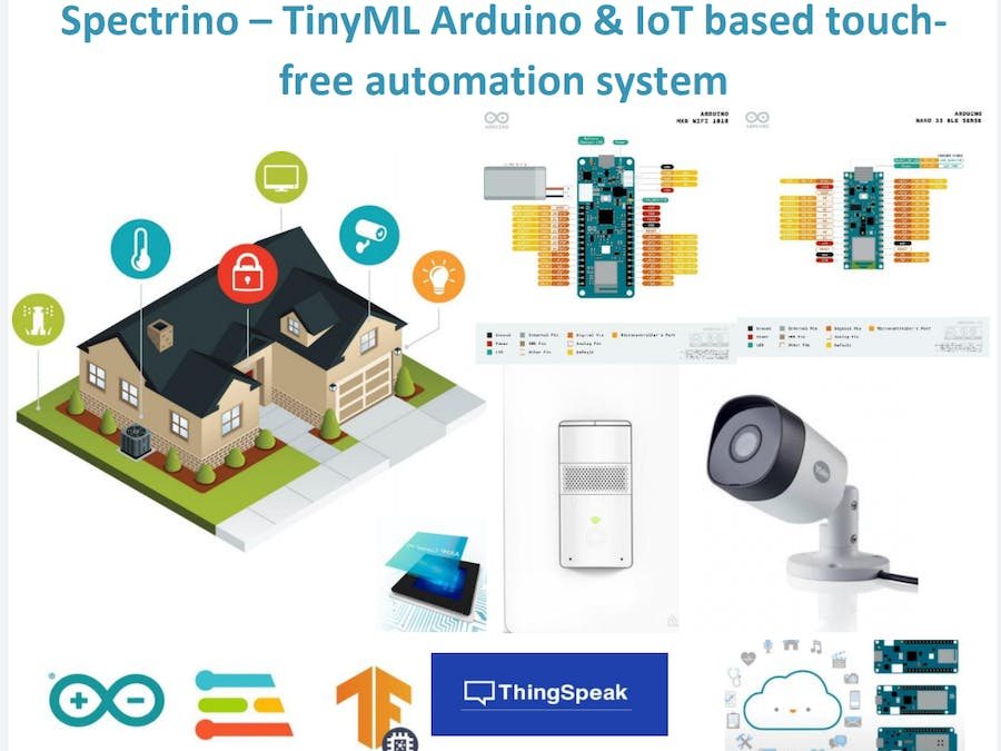 Spectrino: TinyML Arduino & IoT Based Touch-Free Solutions - Arduino Project Hub