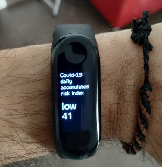 First real prototype of the smartband
