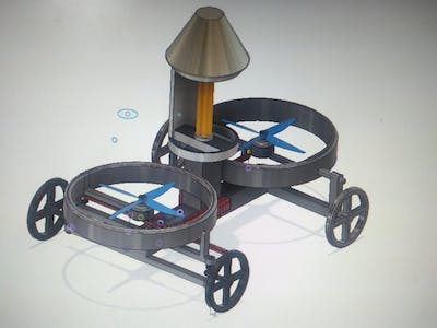 Covid-19 Virus Desanitizing Bi-copter using UV light
