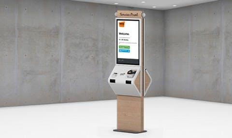 An in mall queuing kiosk