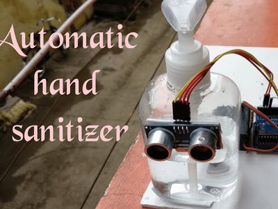 Automatic hand sanitizer using arduino