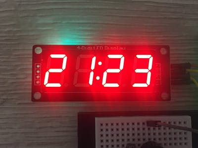 TM1637 Digital Clock with time setup and alarm functionality
