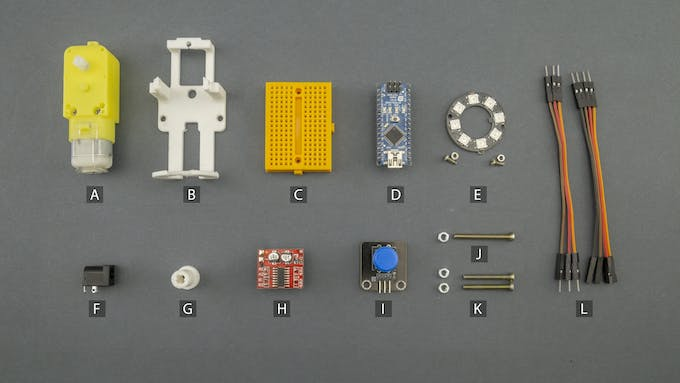 Fig. D – Electronic and electromechanical components