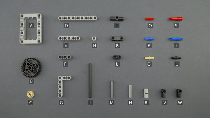 Fig. E - Lego Technic components