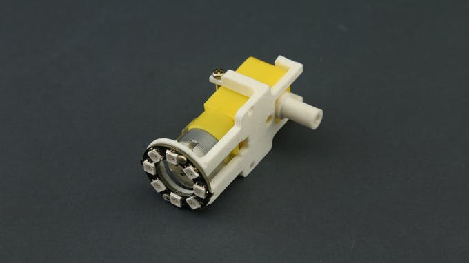 Fig. H - General view of LEGO compatible gear motor