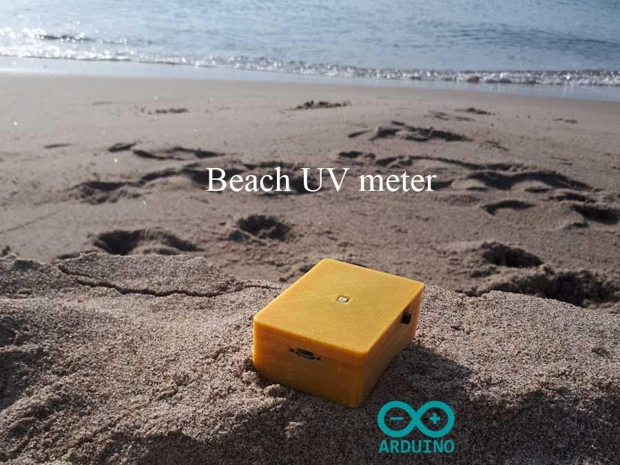 Beach UV meter