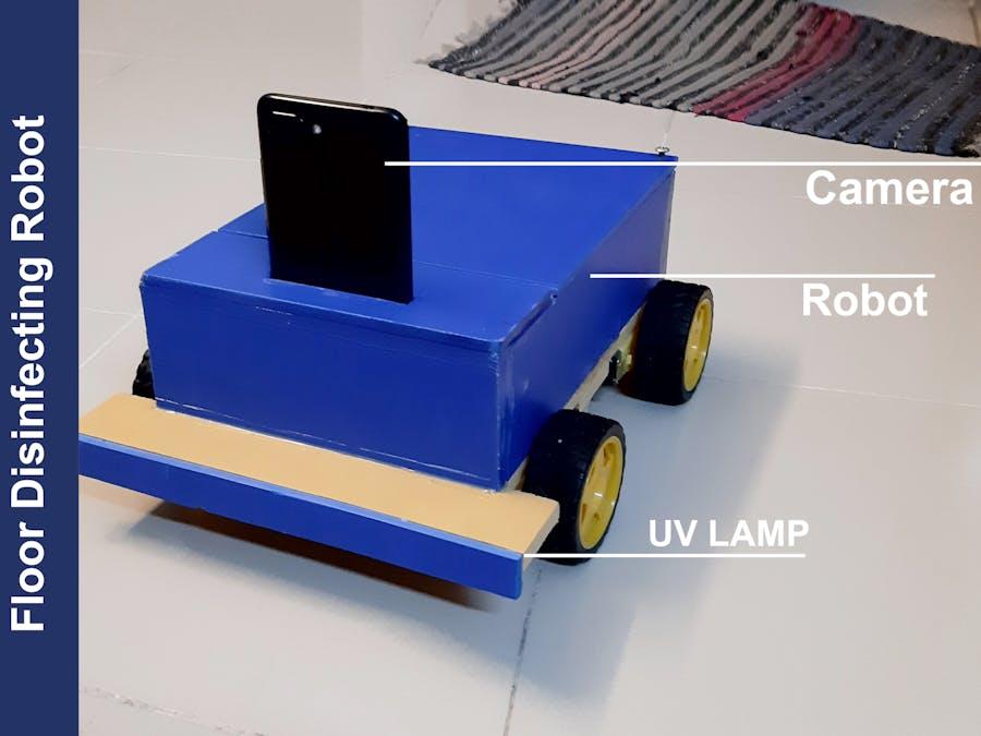 Teleoperated Floor Disinfecting Robot
