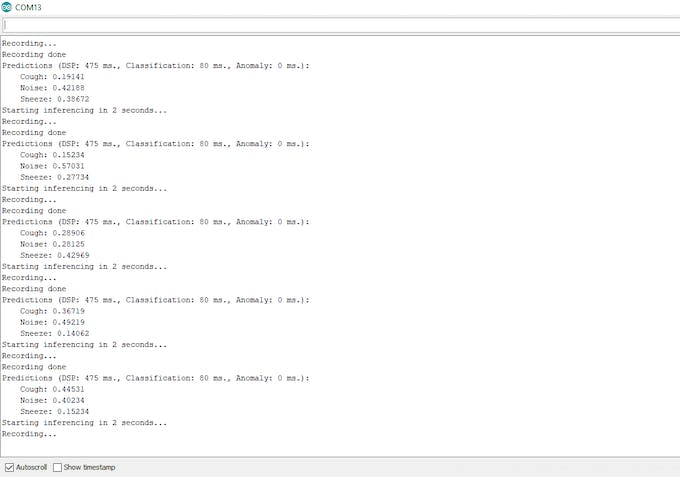 Classifier Serial Output