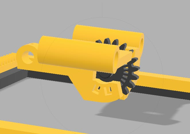 X axis integrated encoder