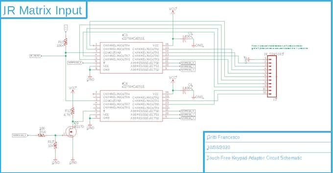 Matrix IR receiver selector