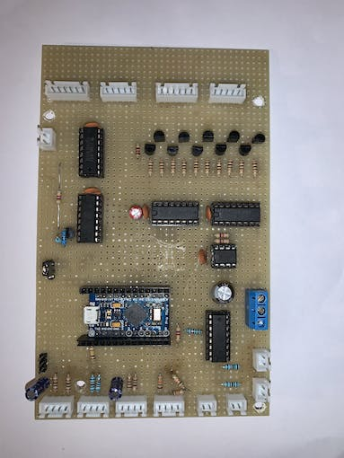 front side of the circuit board (without Arduino MKR 1010)