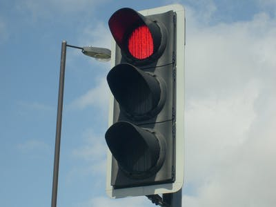 Traffic light with display