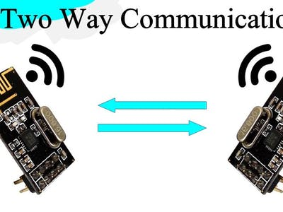 nRF24L01 for communication 1 way and 2 way